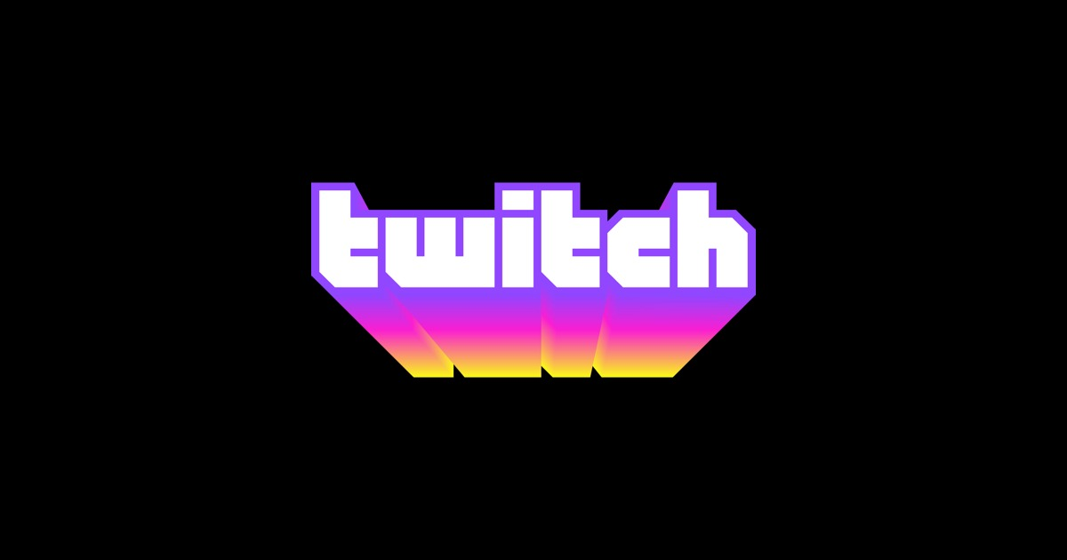 Le logo du site de streaming Twitch sur fond noir