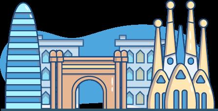Une illustration des monuments célèbres de Barcelone en Espagne