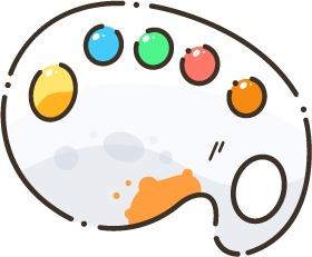 L'illustration d'une palette de peinture